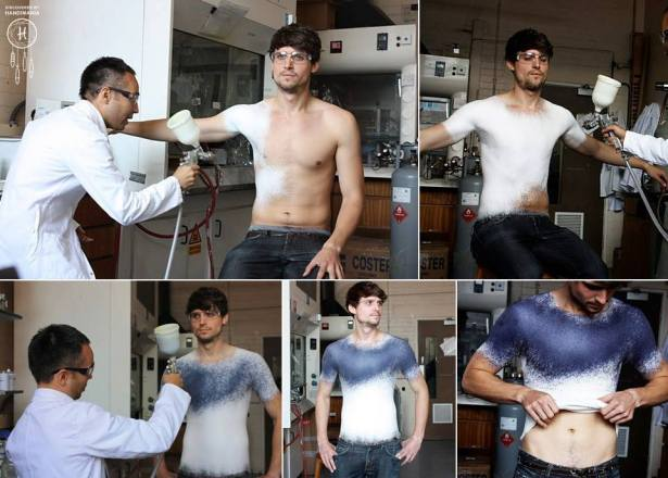 Spray-on shirt